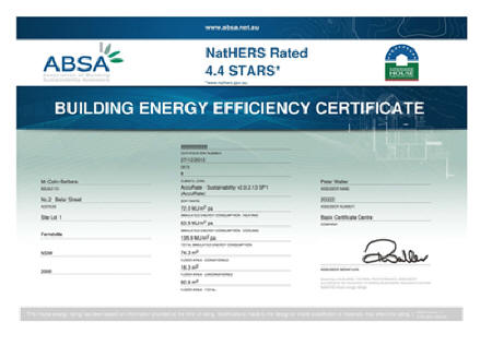 Basix thermal comfort certificates accredited assessor for Water efficiency certificate template